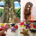 Lady's Starfish Hot Beach Hair Clip Candy Color Hairpin Decor Resin Hair Clips