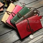 Vintage Style PU Leather Embossed Blank Pages Notebook Journal Diary String