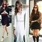 New Women Print Batwing Sleeve Chiffon Loose Cardigan Shirt Tops Blouse Leopard