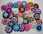 Wool Blend Felt Flower Embellishments - FRILLY PETAL - Applique/Cardmaking