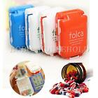 Cute Portable Folding Vitamin Medicine Pill Box Case Organizer Tablet Container