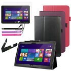 """Folio Leather Folding Stand Case Cover For Dell Venue 11 Pro (64GB) 10.8"""" Tablet"""