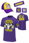 John Cena Mens Purple Costume Hat T-shirt Wristbands