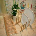 Wood Plate Rack Utensil Holder Pot Lid Holder for Kitchen Z