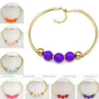 Fashion Womens Faux Pearl Jelly Ball Beads Pendant Chunky Collar Choker Necklace