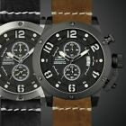 INFANTRY AVIATRIX Mens Quartz Army Aviator Wrist Watch Flyback Night Vision