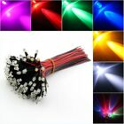 Bulk 12V DC Pre Wired Ultra-Bright Clear 3mm LED Various Colours LED Lamp Light