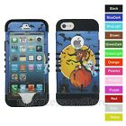 For iPhone 5 5S Halloween Witch Hybrid Rugged Impact Armor Phone Case Cover