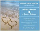 30 50 100 Personalized Custom BEACH Save the DATE 3 COLORS 5.5 x 4 MAGNETS & Env