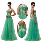 Sweetheart Neckline Sequins Tulle Long Prom Bridesmaid Formal Evening Gown Dress
