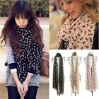 Hot Womens Elegant Long Warm Chiffon Scarf Cat Kitten Graffiti Shawl Neck Wrap