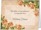 UR WORDS Vintage Chic ROMANTIC ROSES Shabby Custom WEDDING SHOWER Invitations