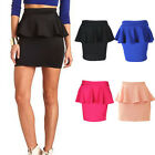Pleated Flounce High Waist Bodycon Skort Skirt Stretch Tight Short Fitted Dress