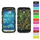 For Samsung Galaxy S4 Camo Mossy Oak Hybrid Rugged Impact Armor Phone Case Cover