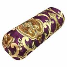 mr01g Puple Lt. Gold Lt. Brown Green Shimmer Velvet Bolster Yoga Case Neck Roll