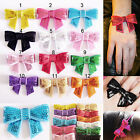 1PCS Colour Bow tie Bowknot Glitter Sequin Sewing DIY Craft Hairband Bracelet