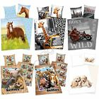 ANIMAL BEDDING 100% COTTON DUVET COVERS NEW BEDROOM HORSES PUPPIES KITTENS