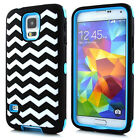 Hybrid Hard Combo Impact Protective Case Cover for Samsung Galaxy S5 i9600