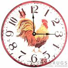 Shabby Chic Retro Vintage Style 'Rooster' Wall Clock