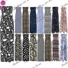 Womens Ladies Print Gathered Boobtube Bandeau Sheering Long Maxi Dress Plus Size