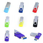 7 Color Swivel USB3.0 8/16/32/64/128/256GB Flash Memory Drive Stick Thumb U-Disk