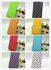 PU LEATHER POLKA DOT PULL TAB CASE COVER only fits APPLE IPHONE 5S