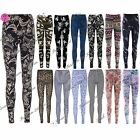 Womens Printed Ladies Ankle Length Stretchy Pants Jeggings Leggings Plus Sizes