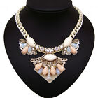 vintage antique jewellery silver plated glass crystal rhinestone bib necklace