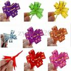 10Pcs Magic Decoration Ribbon Wrap Pull Bows Wedding Birthday Car Floristry Gift
