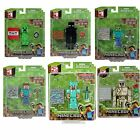 "Minecraft 3"" Figures Steve Zombie Creeper Iron Golem Enderman Blacksmith"