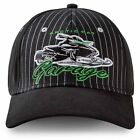 Arctic Cat Garage Fitted Pinstripe Baseball Cap Hat - Black - 5253-115, 5253-116