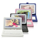 "iRULU 7"" PU Leather Micro USB Keyboard Case With Buttons Stand Cover for Tablet"