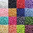 lots Quality Czech GLASS PEARL Round & Loose BEADS Choose - 4MM, 6MM, 8MM & 10MM