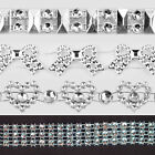 Sparkly diamante rhinestone effect ribbon trim wedding invites/decorating 1 m