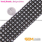 "Magnetic Drum Black Natural Hematite Beads Stone DIY Strand 15""Size Selectable"