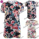 Womens Ladies Rose Flower LOVE NYC LOL 6 8 Baggy Turn Up Sleeves T Tee Shirt Top