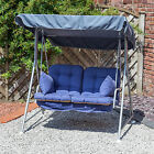 Alfresia Garden Swing Seat for 2 with Luxury Cushions (Silver Frame)