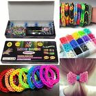 Colourful Loom Bands Rainbow Rubber Childrens Craft Bracelet Making Kit DIY