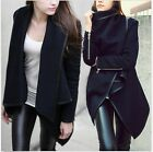 2014 New Women Winter Warm Zipper PU Edge Leather Trench Coat Jacket Outwear- CB