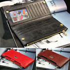 New Fashion Lady Women Retro Long PU Purse Solid Color Clutch Wallet 5 Colors