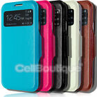 SLIM MAGNETIC FLIP STAND WALLET S VIEW CASE COVER FOR SAMSUNG GALAXY S4 i9500