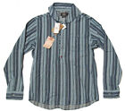 Double Ralph Lauren RRL Mens Indigo Blue Denim Chambray Shawl Shirt Jacket New