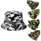 Men Women Bucket Hat  Camouflage Outdoor Sun Fish Military Camping Hiking Cap