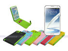 Leather Wallet Flip Case with Inner Soft TPU for Samsung Galaxy Note II 2