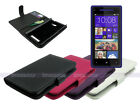 Leather Wallet Case Cover for HTC 8X with Card Slot