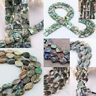 New Zealand Paua Abalone Shell Oblong Oval Teardrop Square Loose Beads Findings