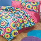 PEACE SIGN PAZ BEDDING TWIN FULL OR QUEEN TIE DYE BED SHEET SET DORM ROOM