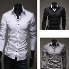 Z  Fashion Spring Style Men's Slim Full Sleeve Casual /Dress Shirts Sz L-2XL