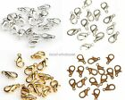 100Pcs Silver Gold Copper Plated Lobster Clasps Hooks Charms Findings 10mm 12mm