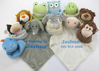 Personalised Cubbies Animal Baby Snuggle Buddy Comforter Comfort Blanket Gift